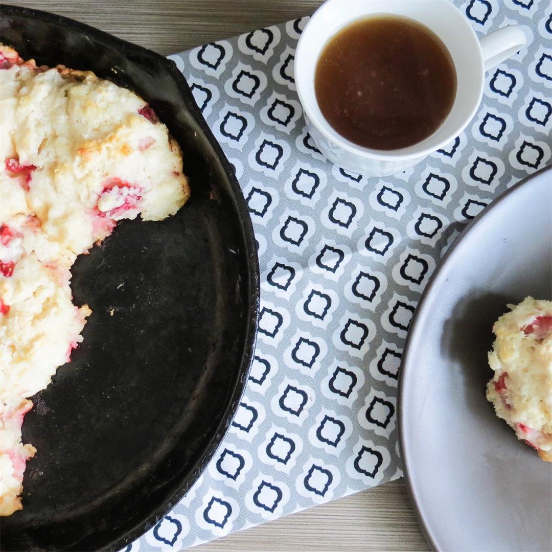 Strawberry Buttermilk Biscuits