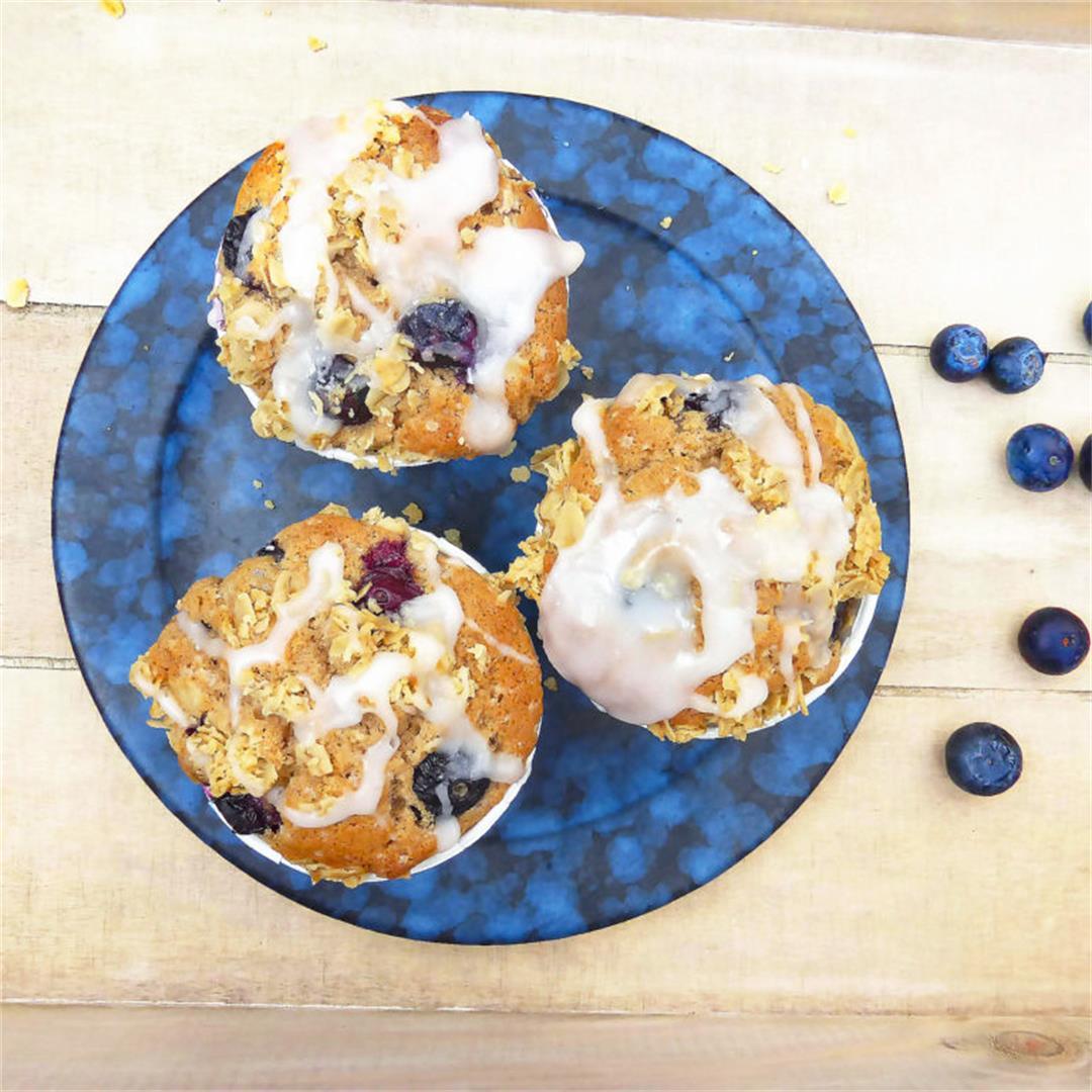Gluten Free Brown Sugar Blueberry Muffins