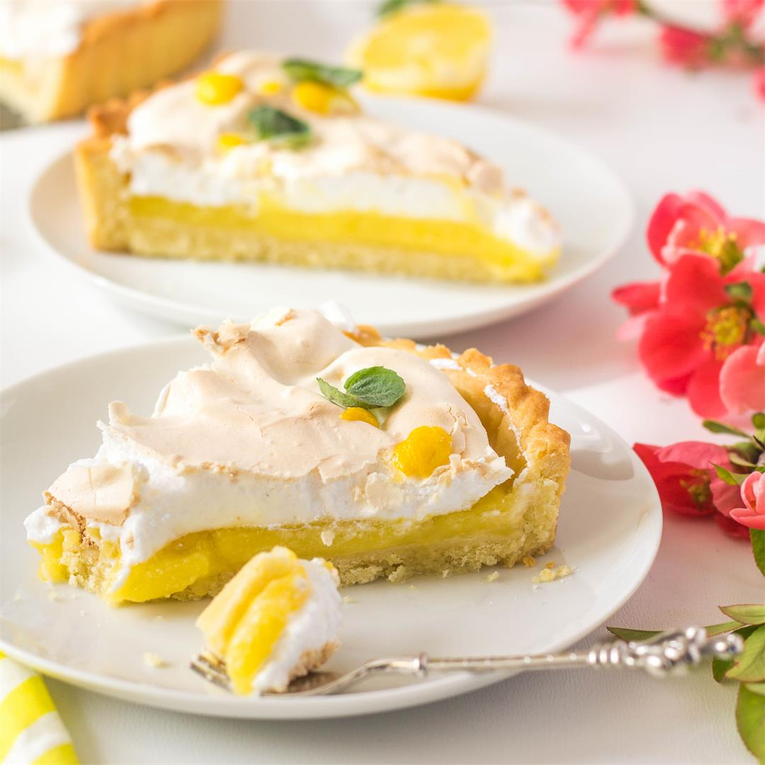 Tarte au citron meringuée - French Lemon Meringue Tart