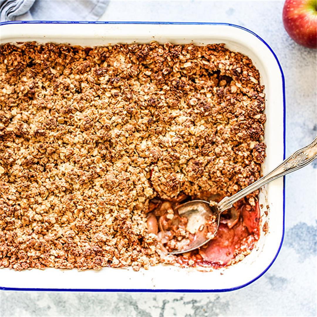 Sugar Free Apple Crumble