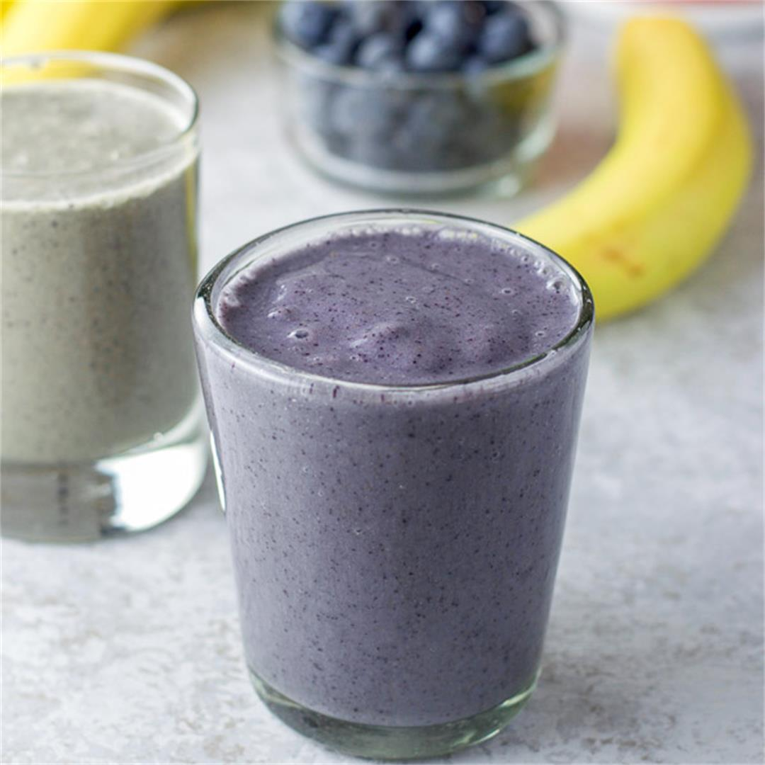 Blueberry Banana Spinach Smoothie