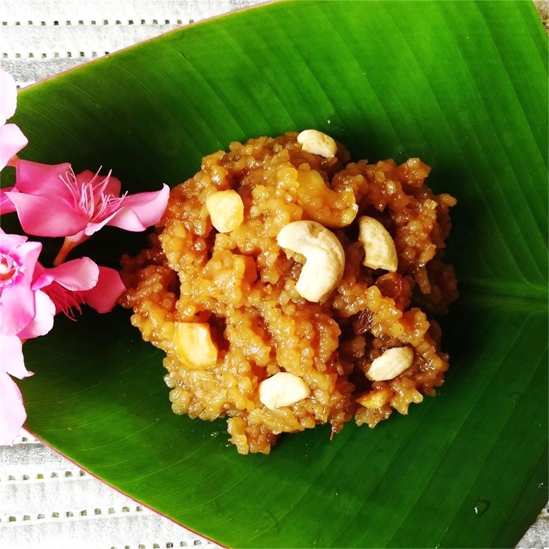 Sweet pongal recipe | sakkarai pongal recipe | chakkara pongal