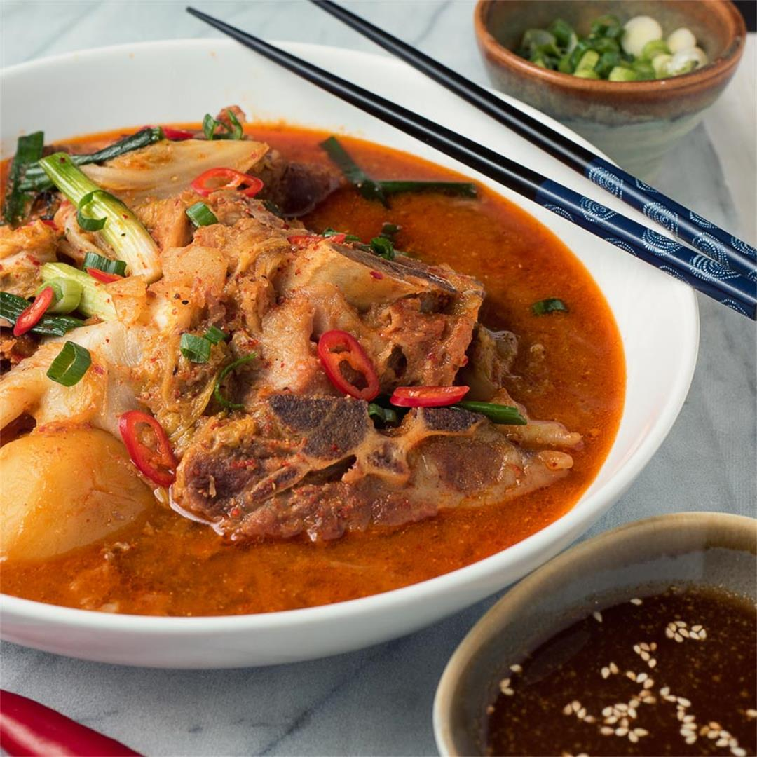 Gamjatang - Korean Pork Bone Soup