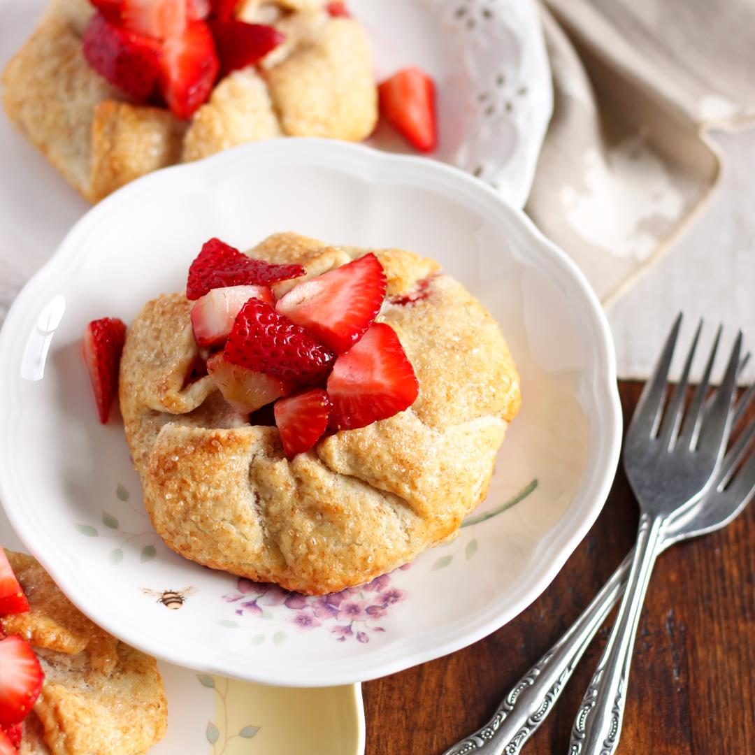 Small Batch Strawberry Galettes