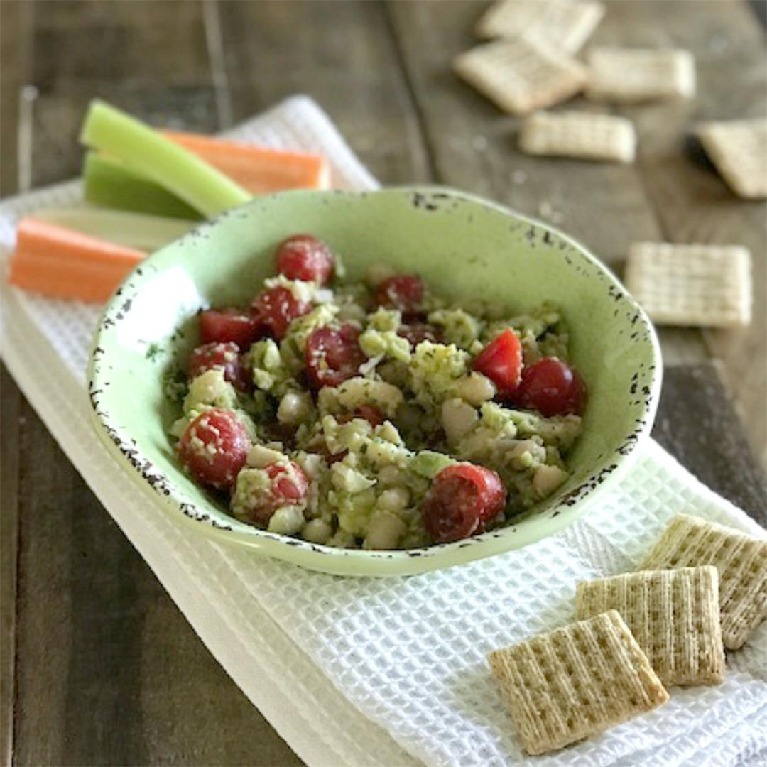 Chunky White Bean Avocado Dip