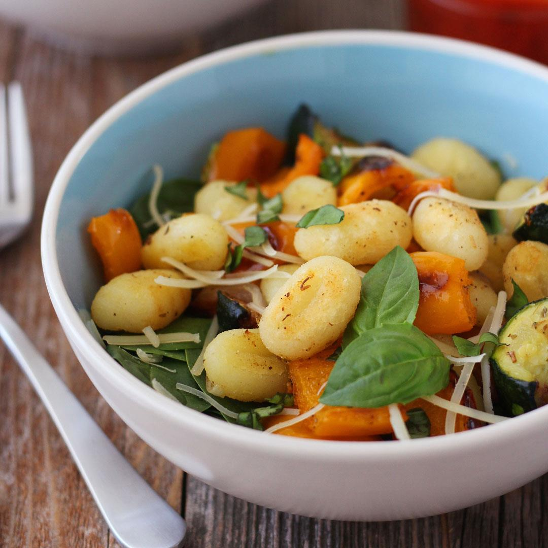 One Pan Roasted Gnocchi and Vegetables
