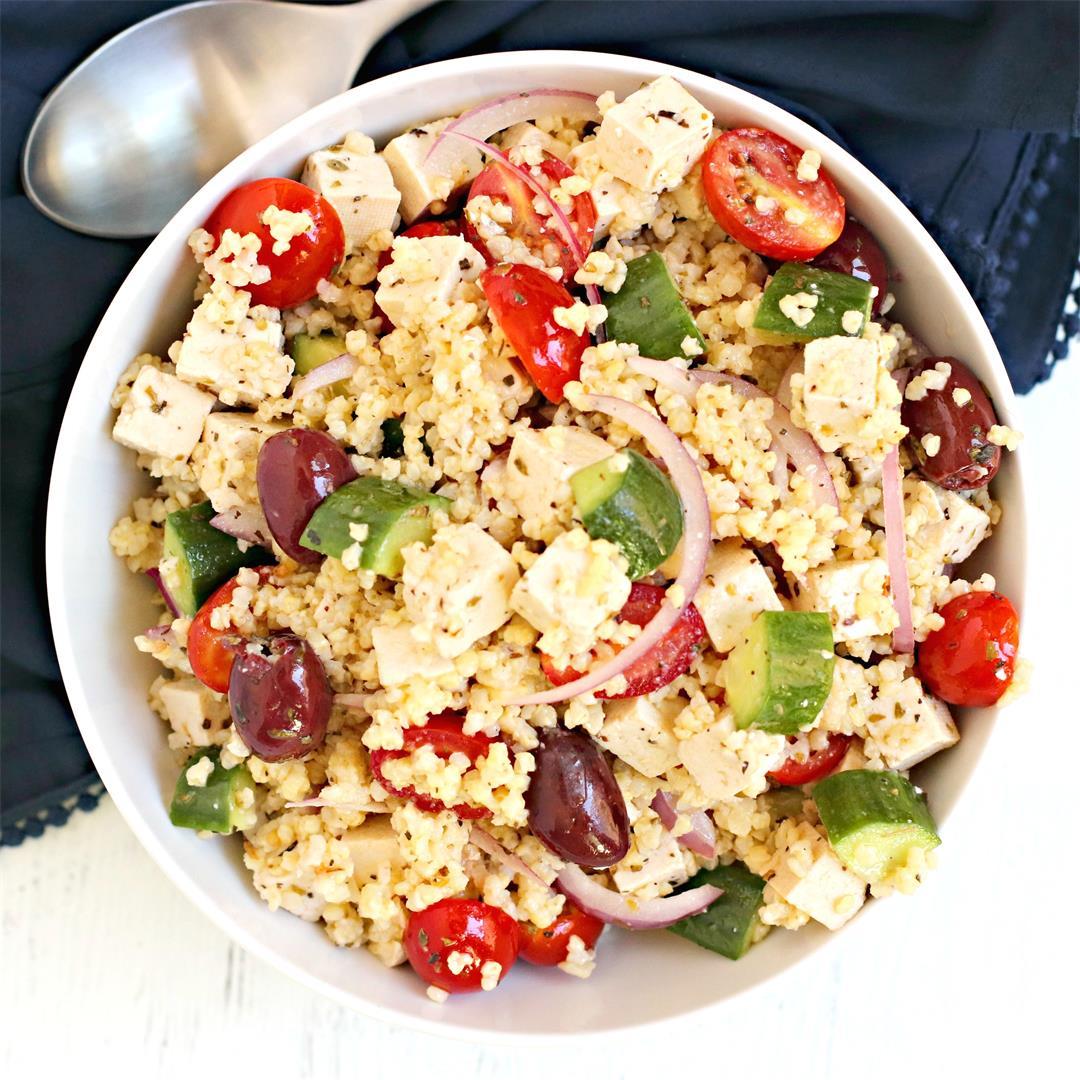 Greek Millet Salad (Vegan)