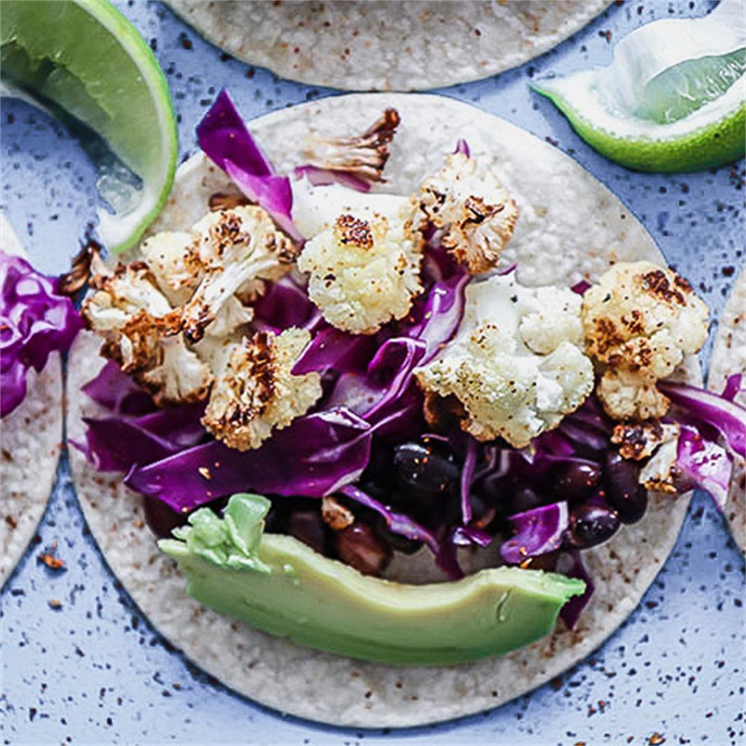 Chili Lime Cauliflower Tacos