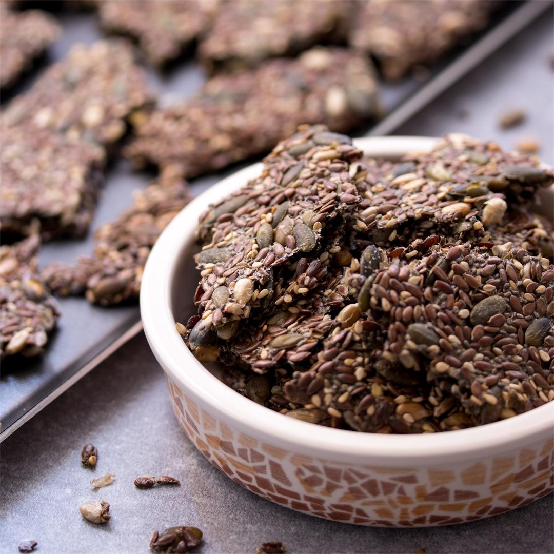 Gluten-free and Vegan Seed Crackers