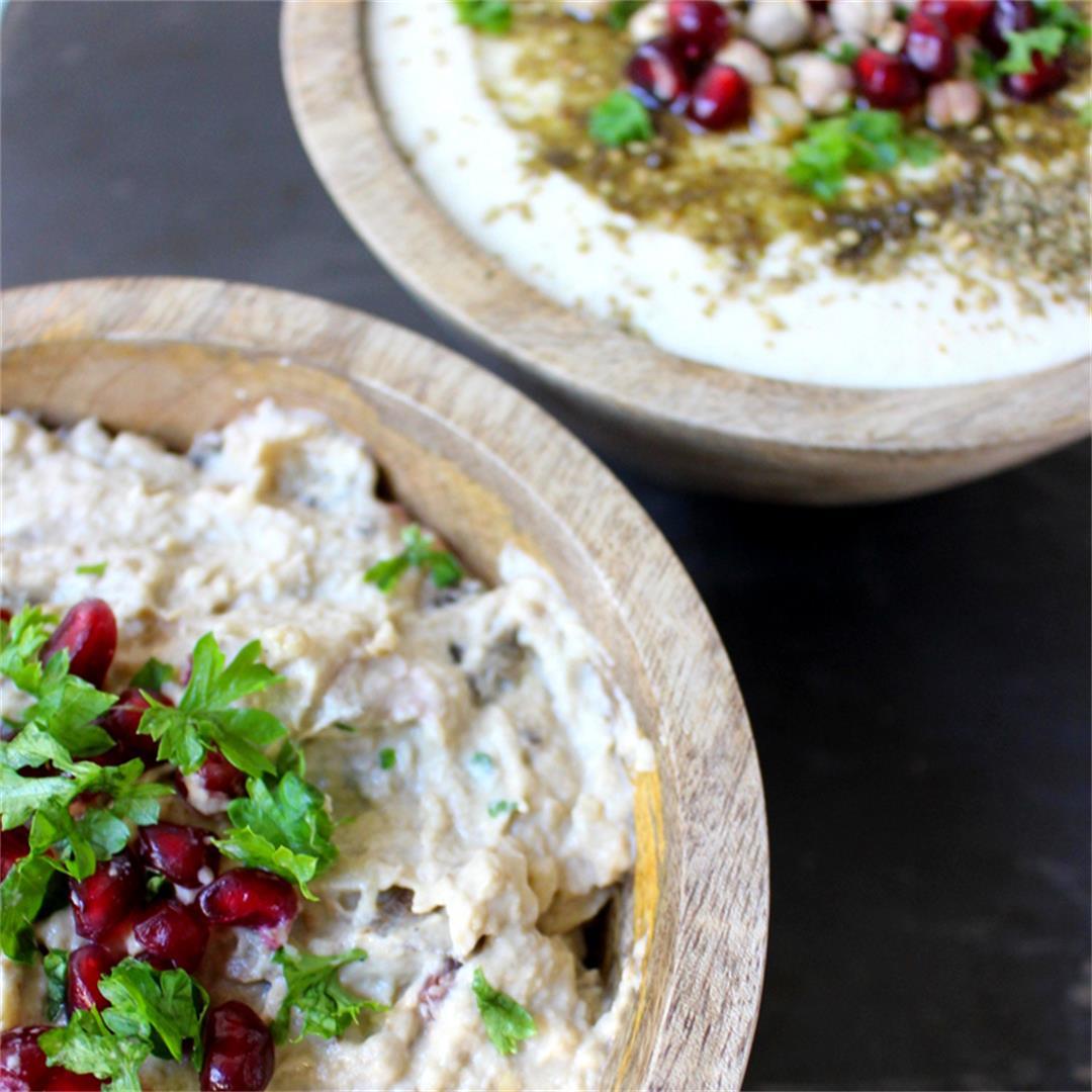 Classic Hummus and Babah Ganoush dips