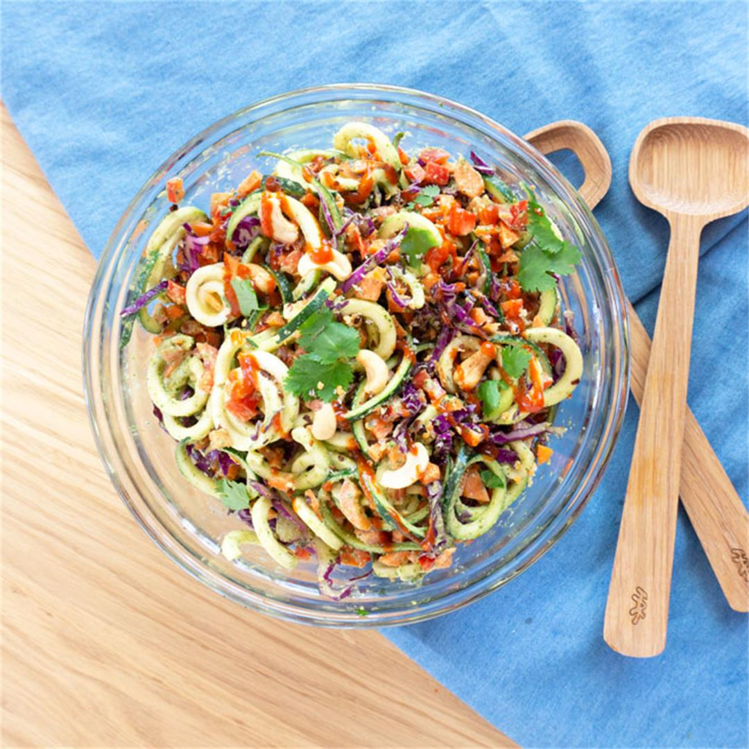 Zoodle Salad with Creamy Cilantro Cashew Dressing