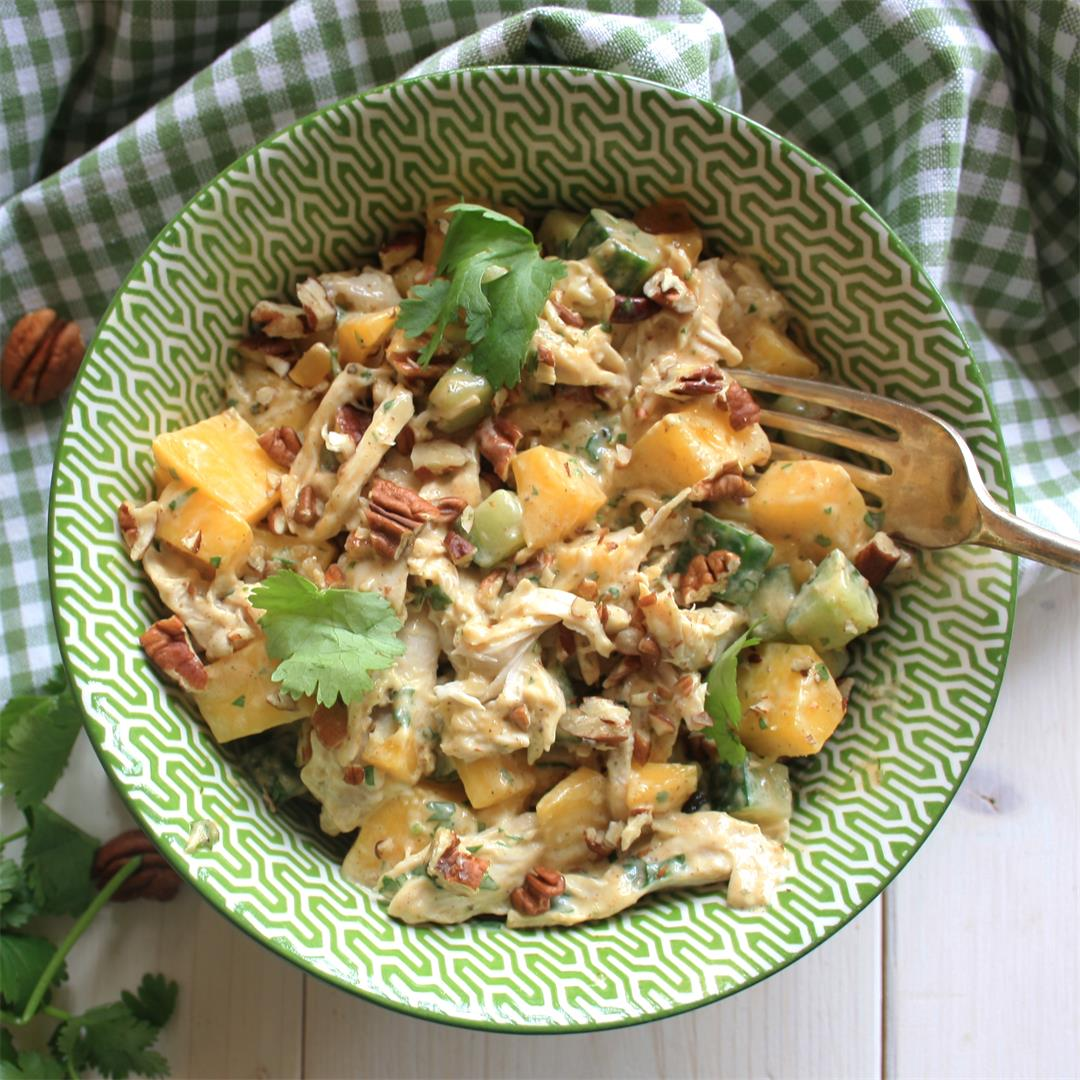 Coronation Chicken Salad with Mango