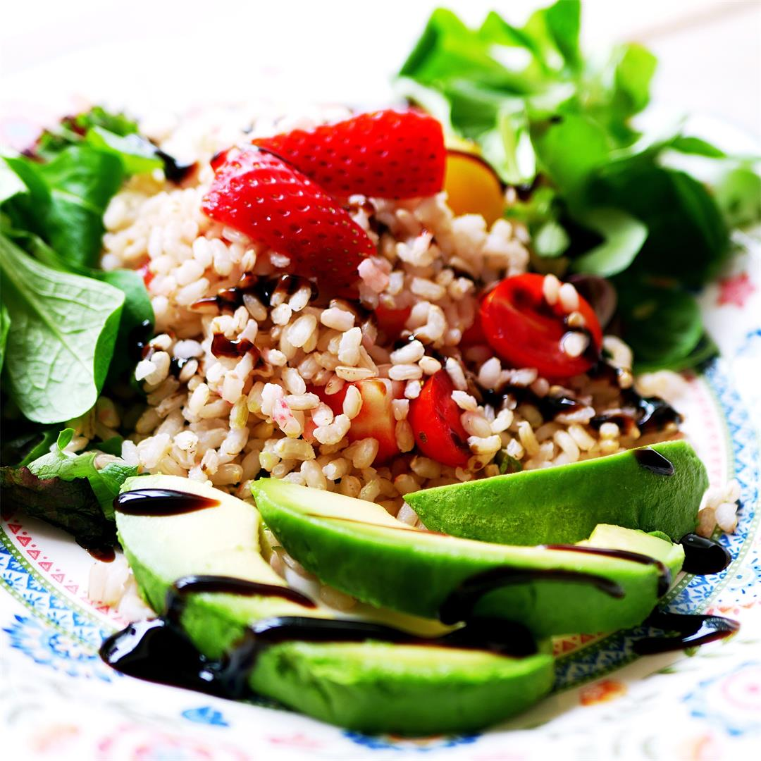 Strawberry and Cherry Tomato Rice Salad