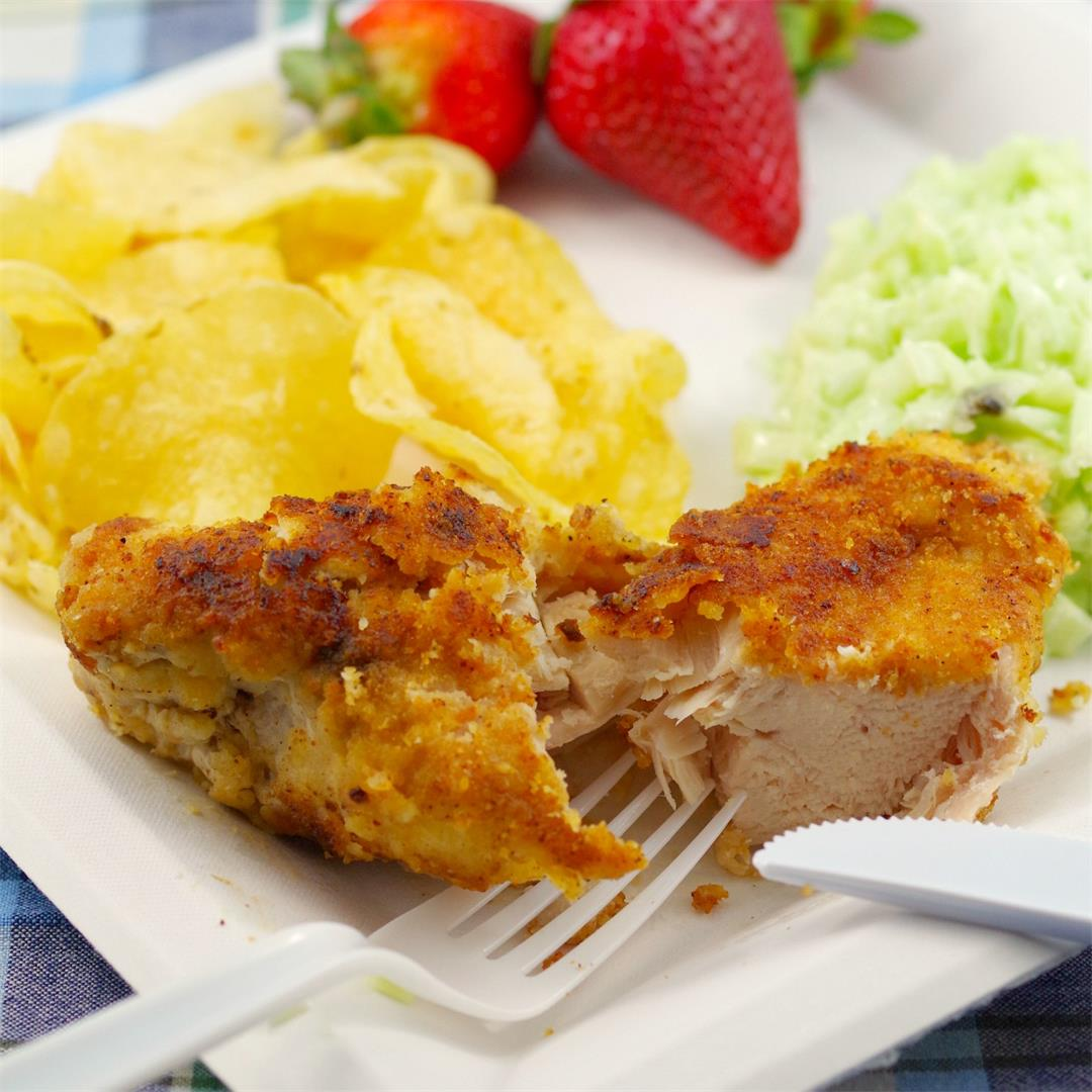 Fried Caesar Chicken - The ultimate picnic chicken!