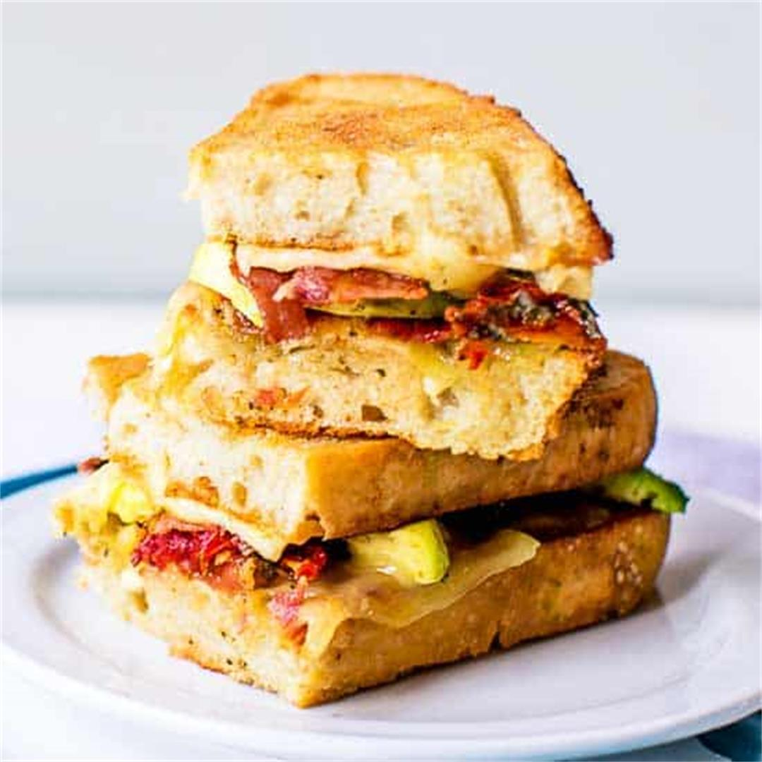 Grilled cheese bacon sandwich