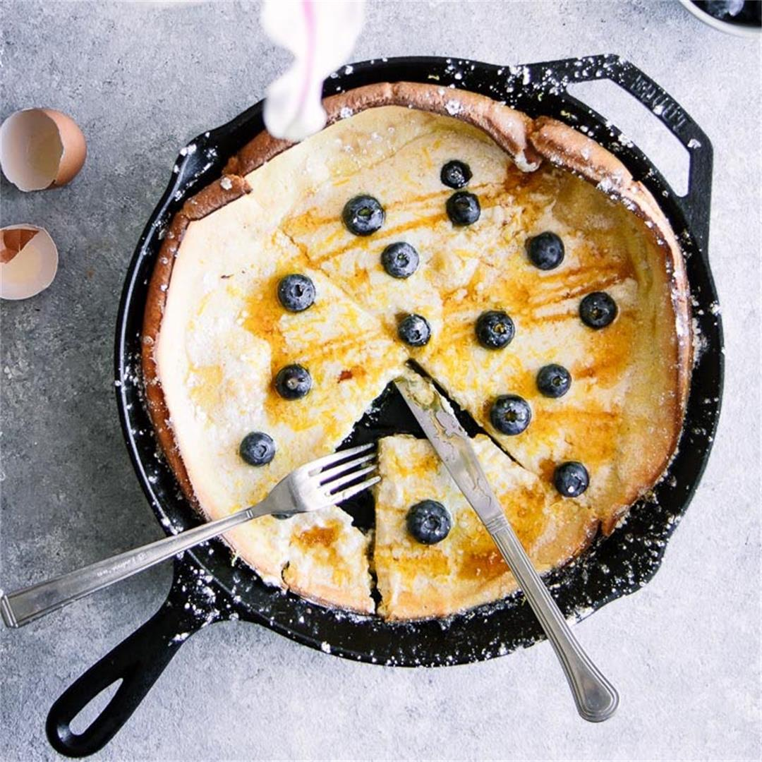 Lemon Marscarpone Dutch Baby Cake