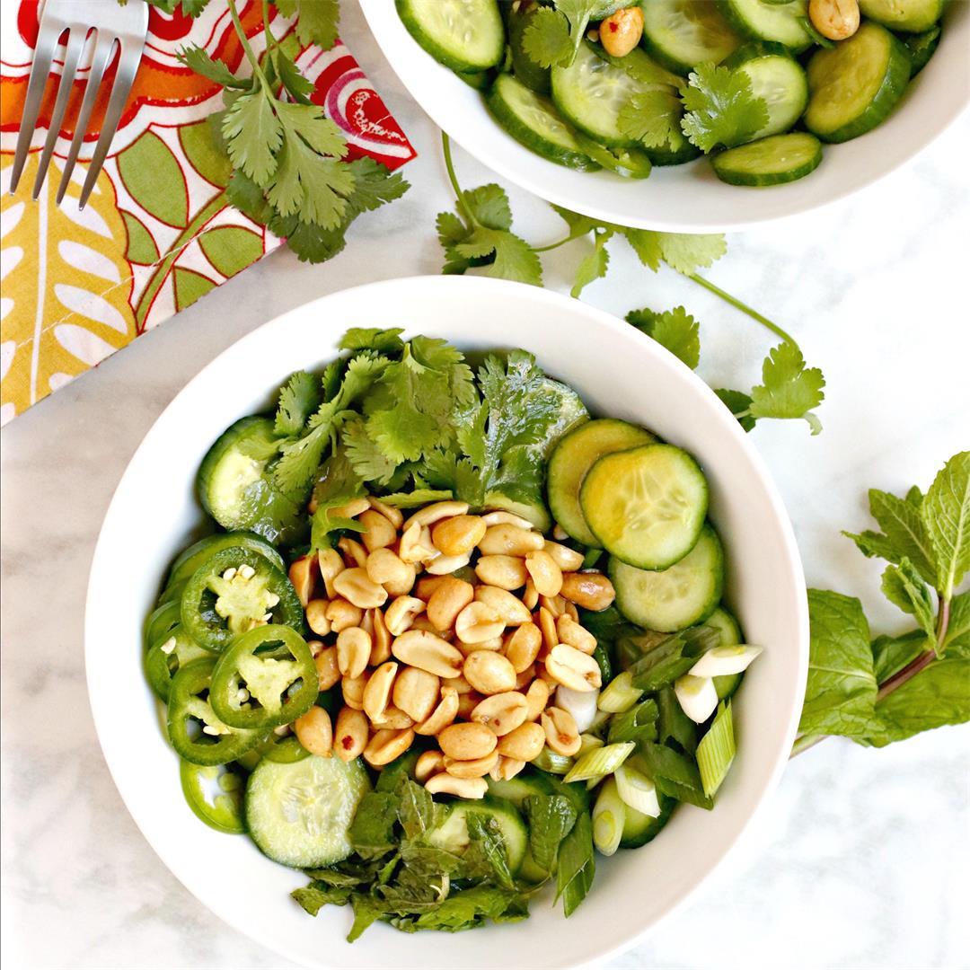 Cucumber Peanut Salad (Vegan)