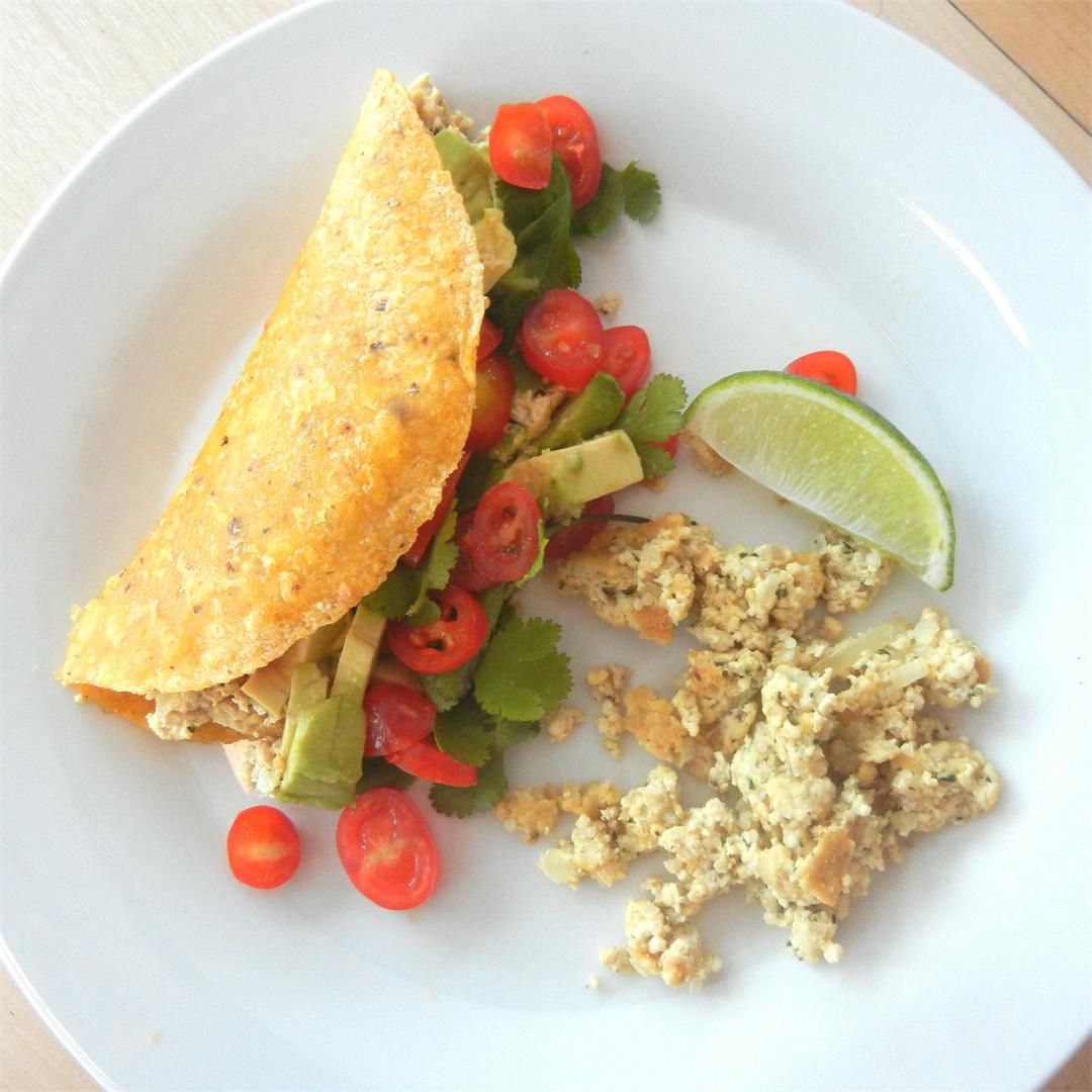 Scrambled Tofu Breakfast Tacos