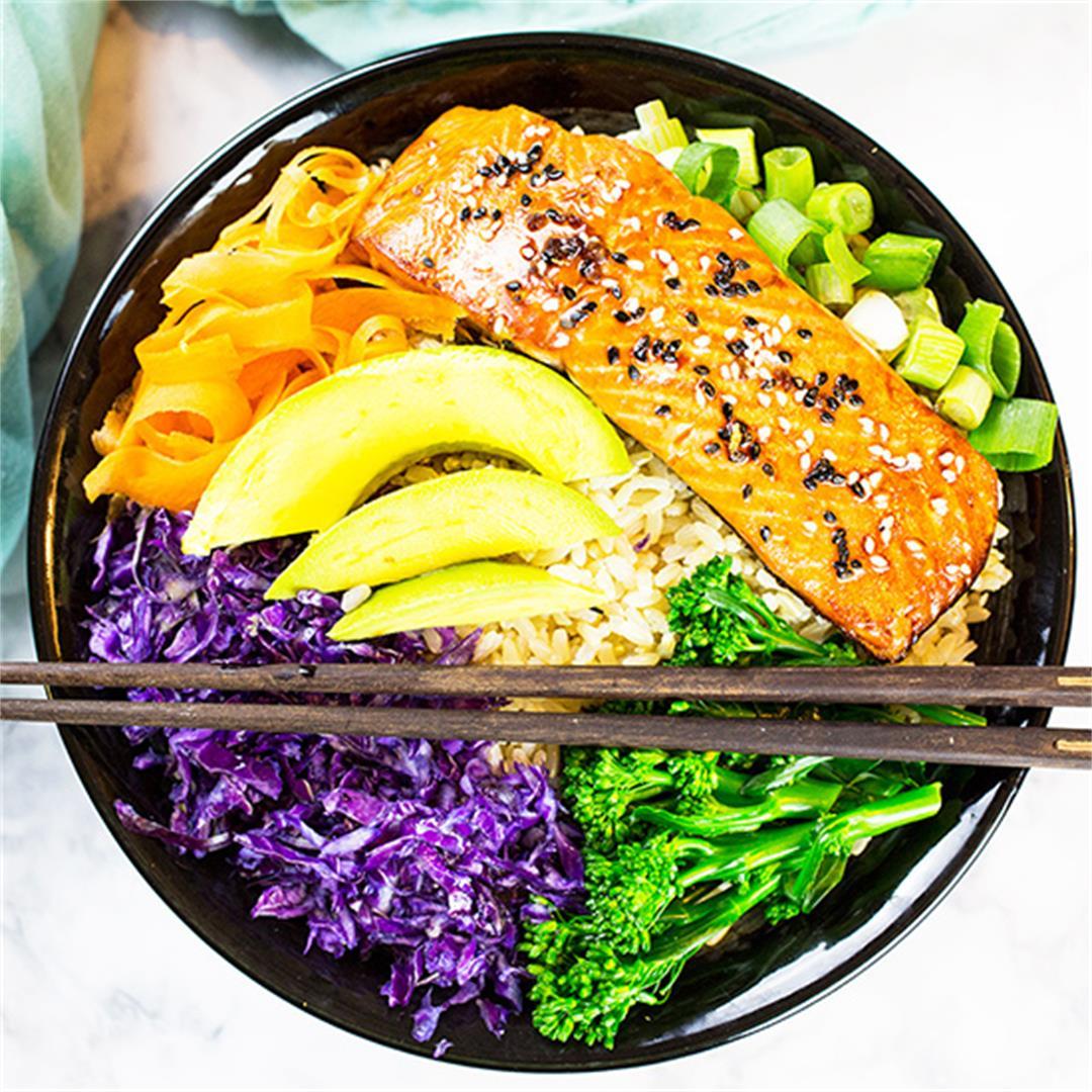 Teriyaki Salmon Bowl (Gluten Free)