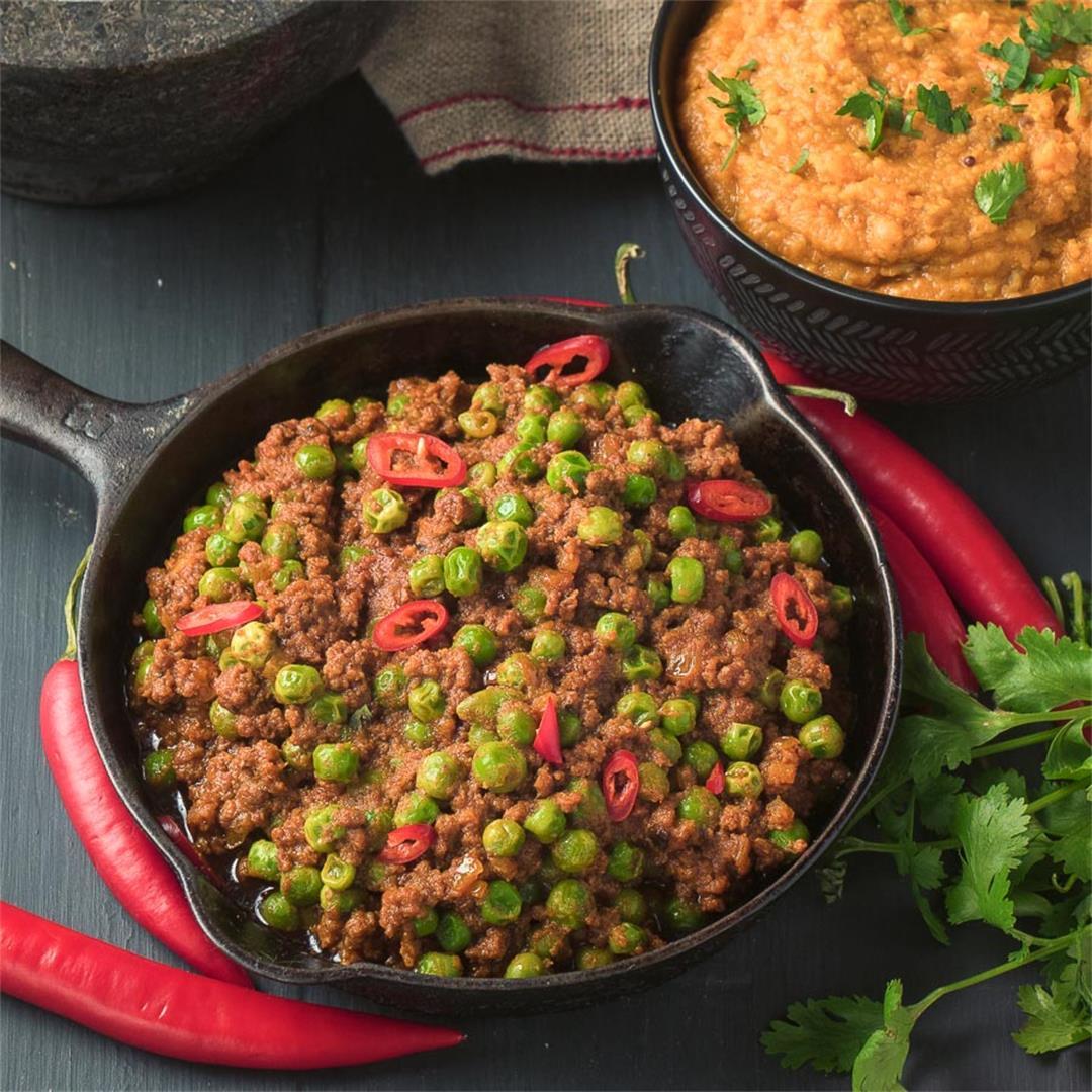 Indian Keema Matar - pea and beef curry