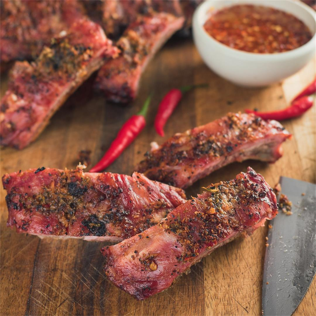 Thai Pork Ribs with Spicy Dipping Sauce