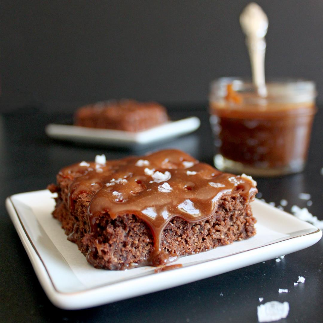 Salted Caramel Brownies (with Dulce de Leche)