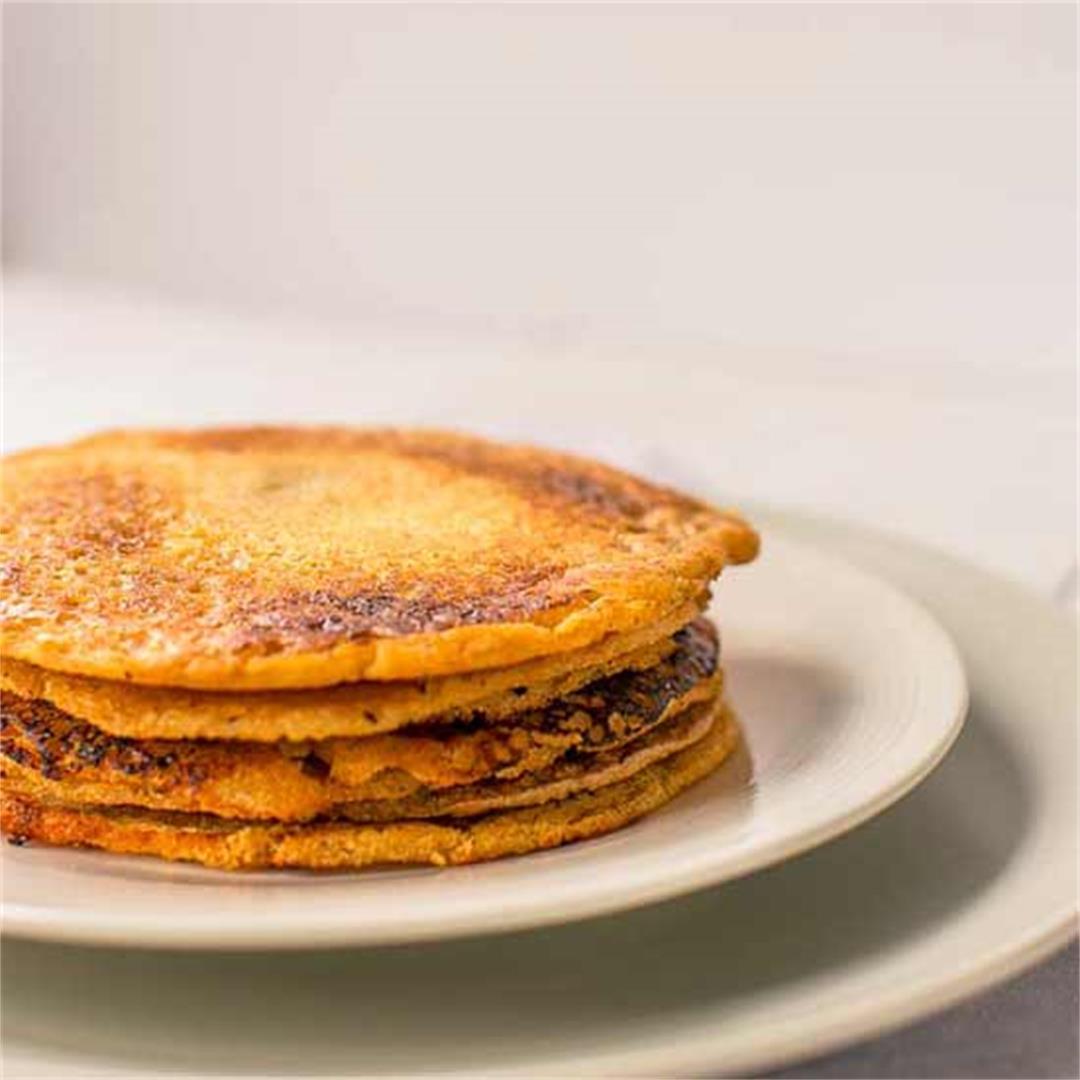 Vegan red lentil tortillas