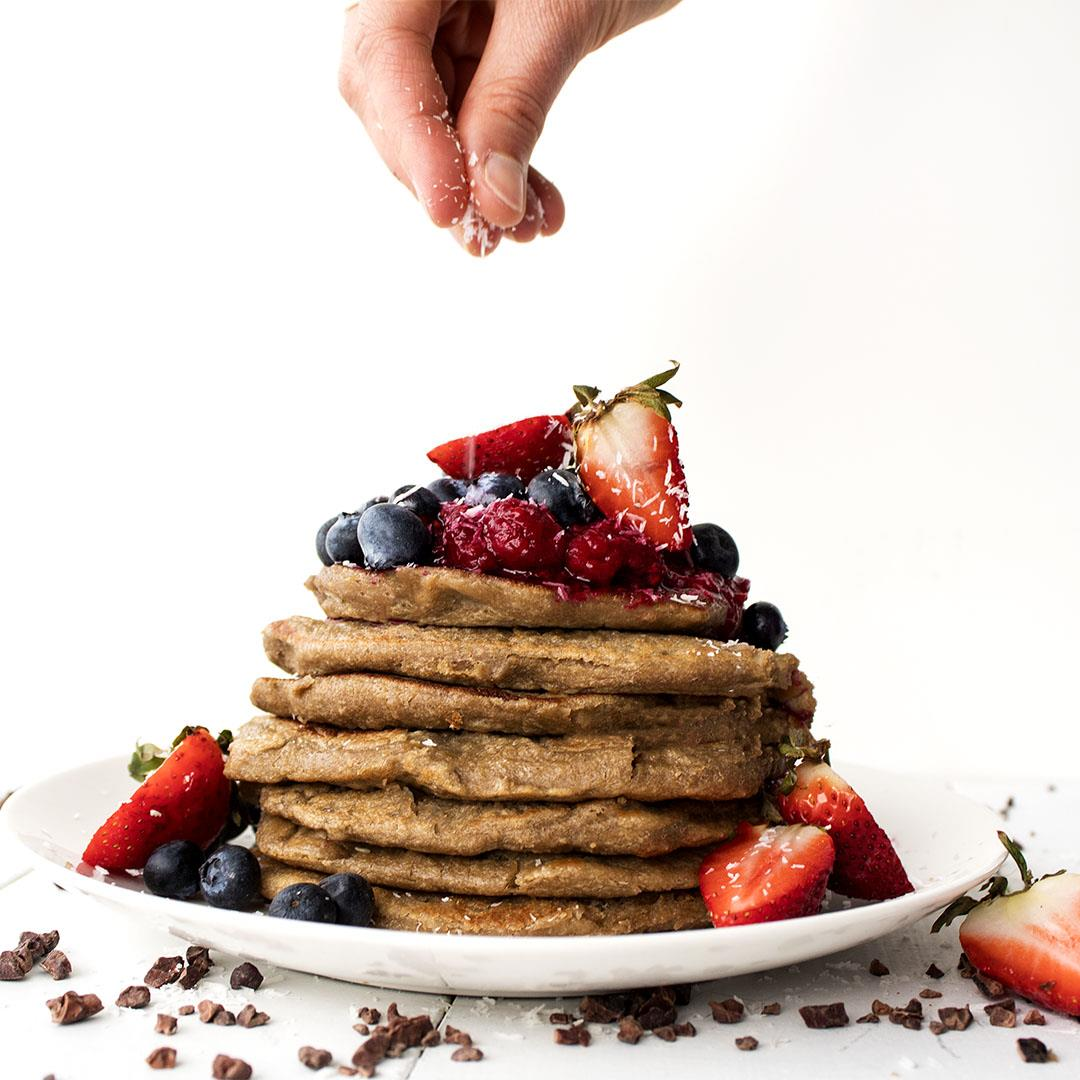 Vegan 3-Ingredient Banana Pancakes