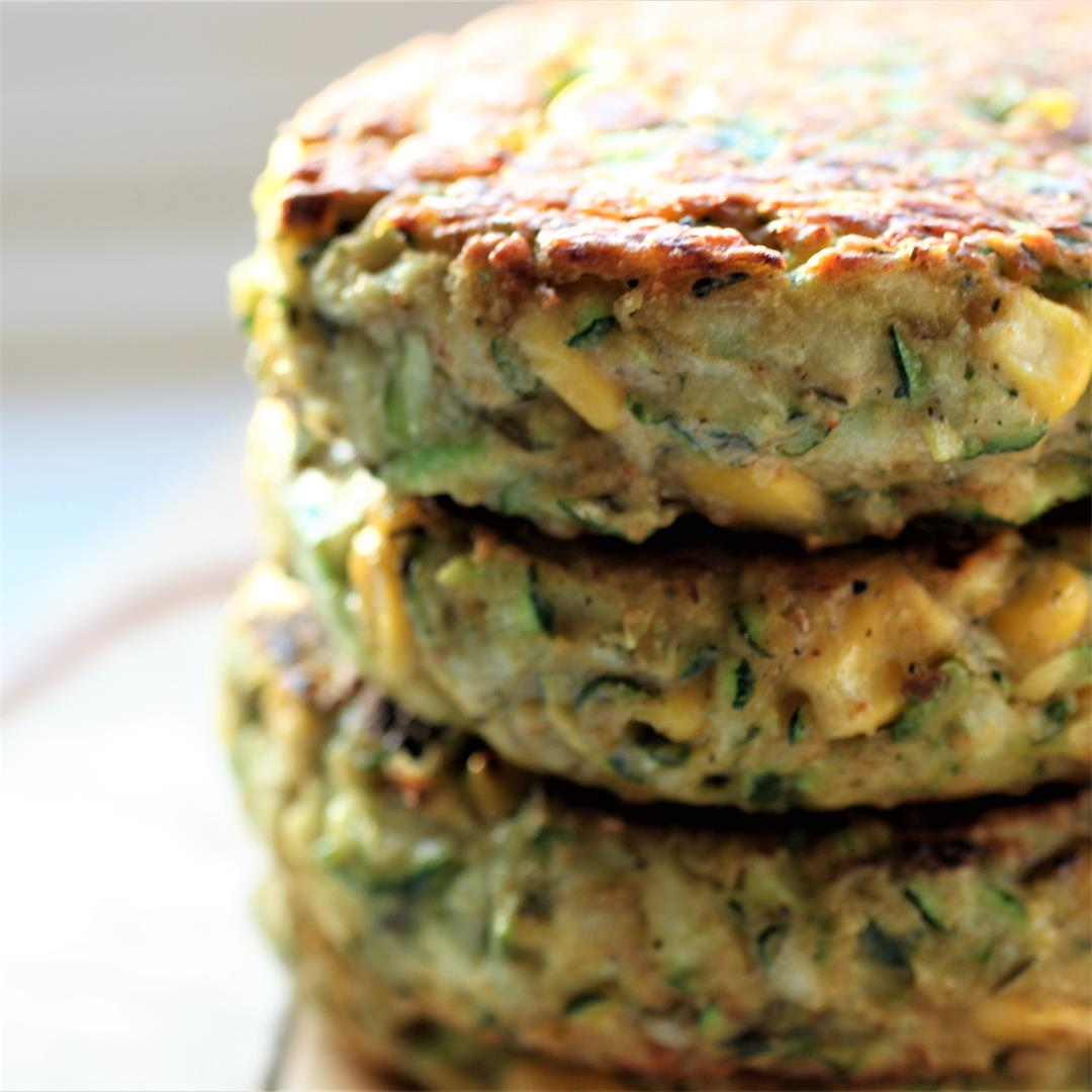 Courgette & Corn Fritters (Vegan, GF)