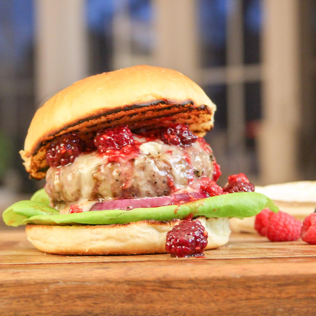 Brie & Berry Burger