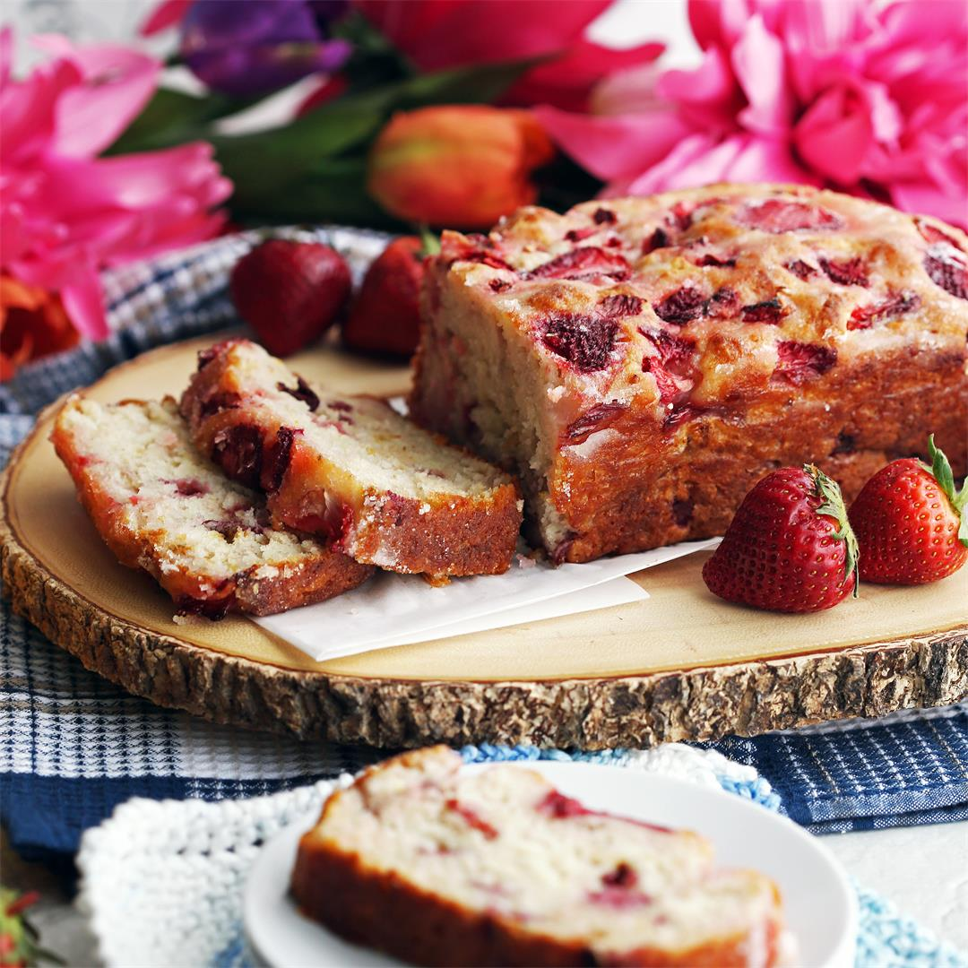 Strawberry Lemon Yogurt Quick Bread