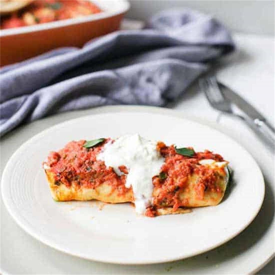Enchilada with spinach and chicken