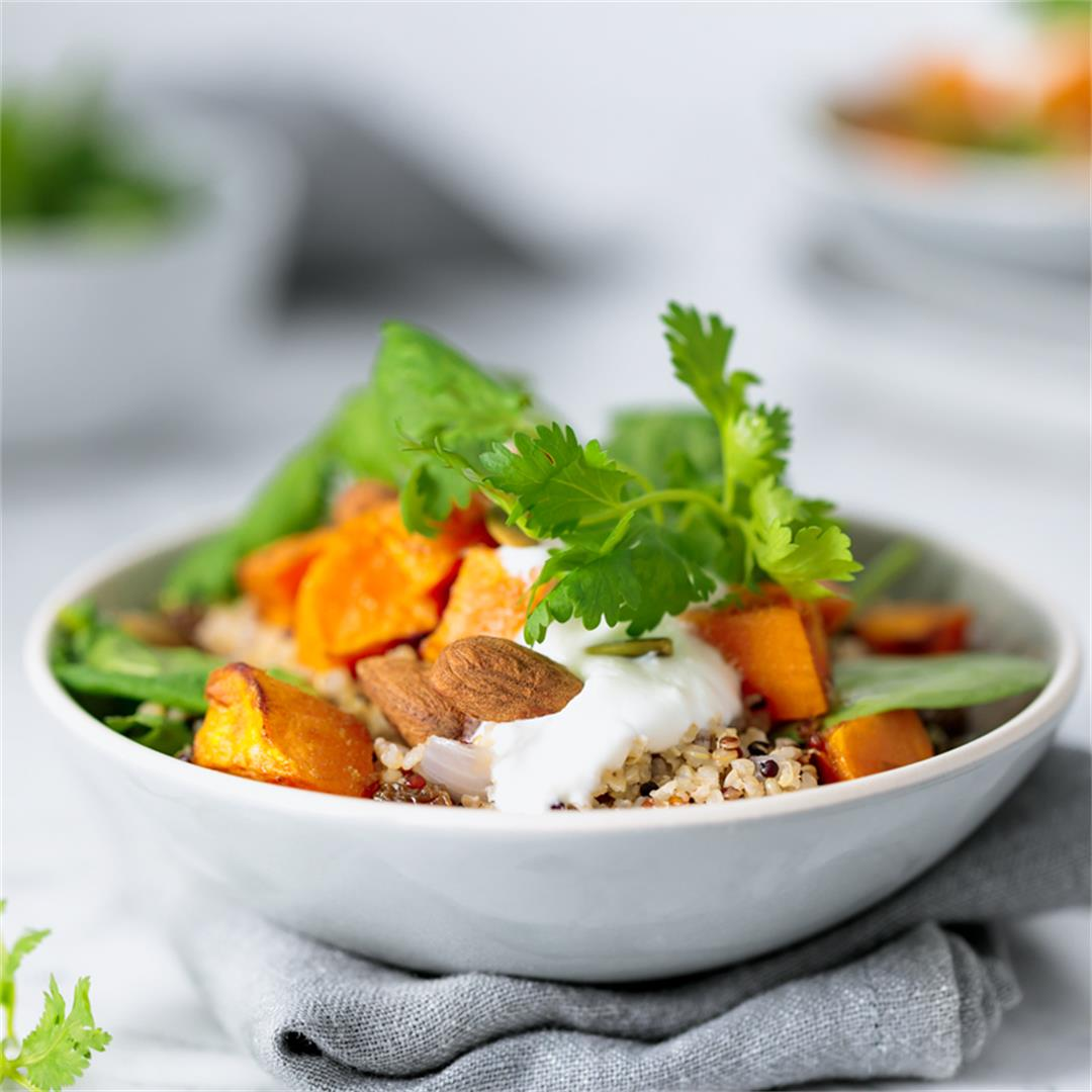 Roasted Sweet Potato & Ancient Grain Salad