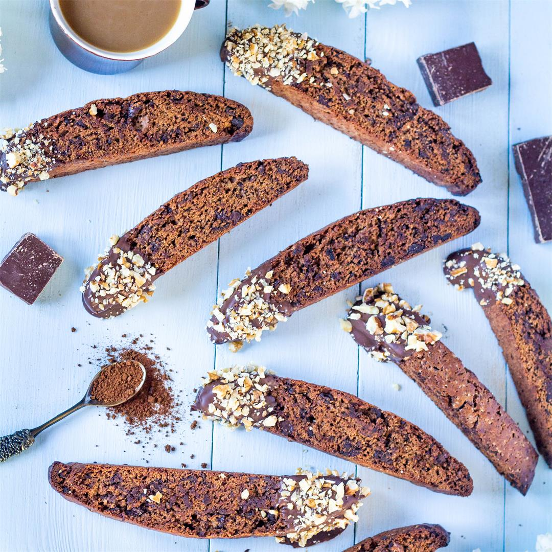 Mocha Chocolate Chip Biscotti