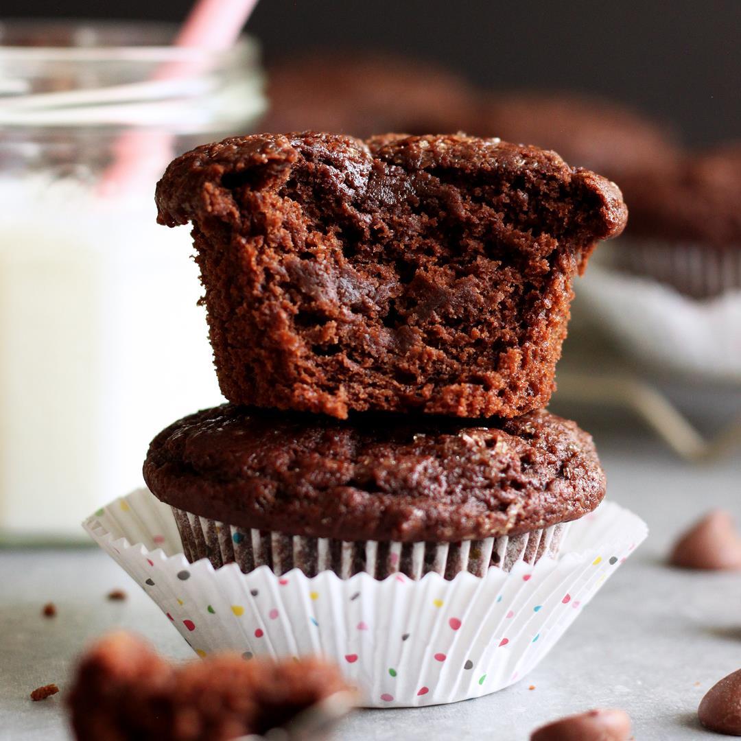 Chocolate Coconut Yogurt Muffins