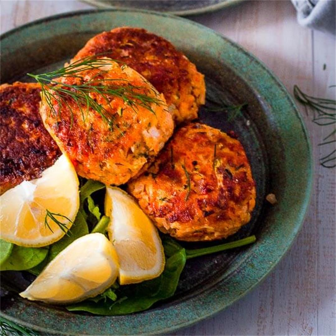 Healthy Salmon Fritters