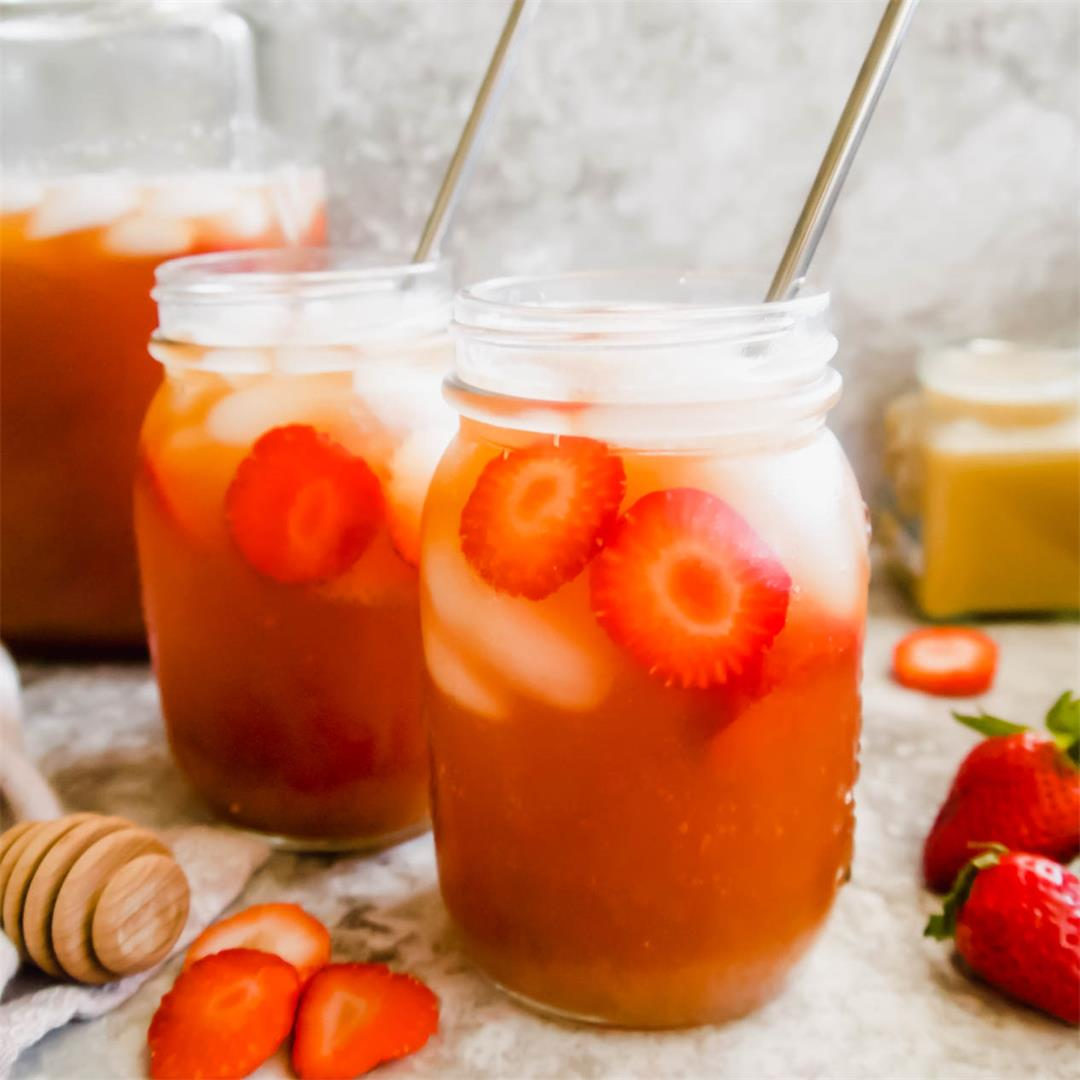 Strawberry Sweet Iced Tea (Paleo, GF)