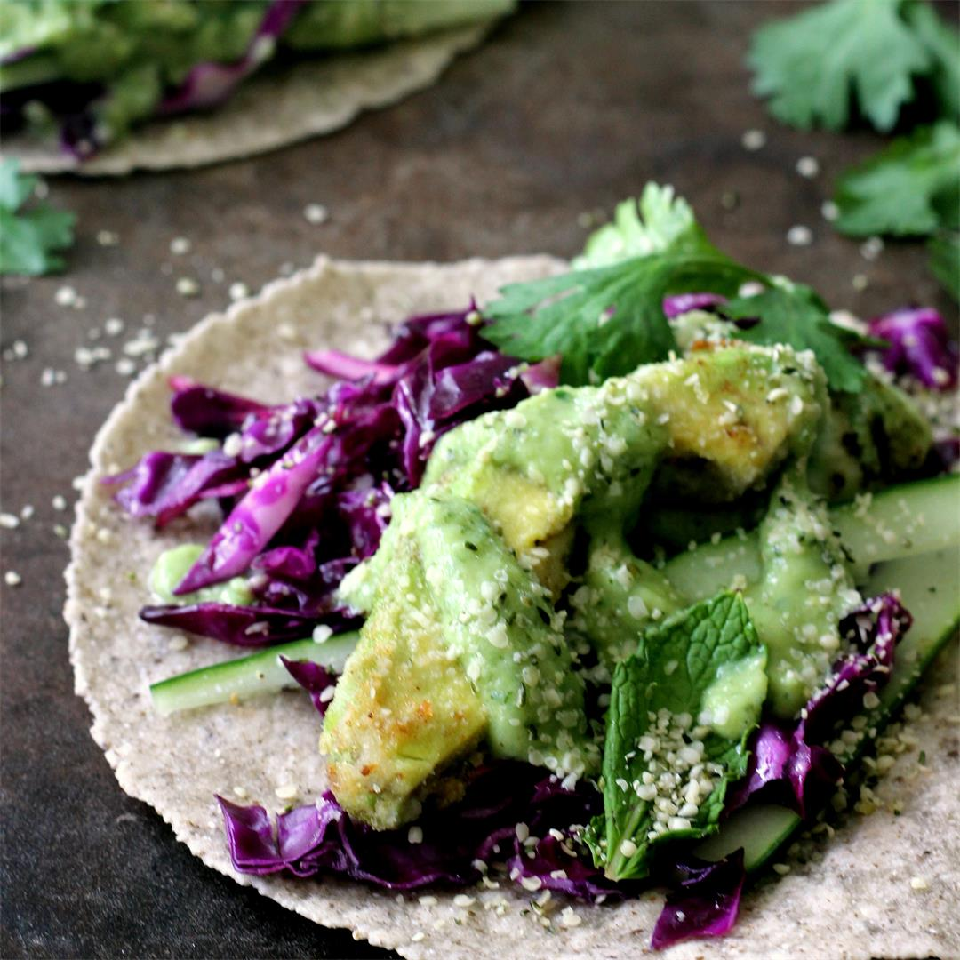 Pan-Fried Avocado Tacos {Gluten-Free, Paleo Option}