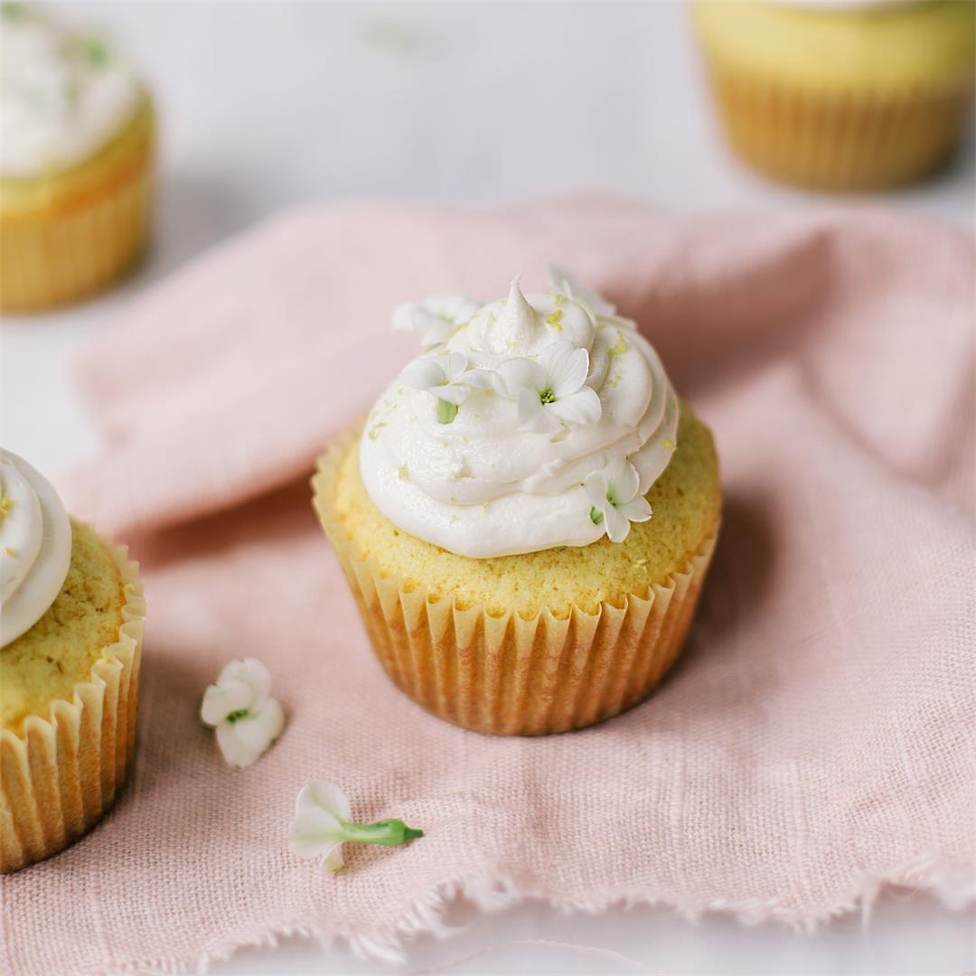 Lemon Elderflower Cupcakes