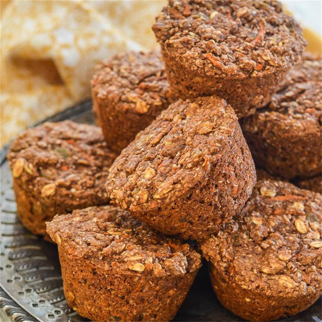 Vegan Healthy Carrot Muffins
