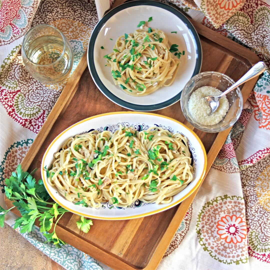 Pantry Linguine in Clam Sauce
