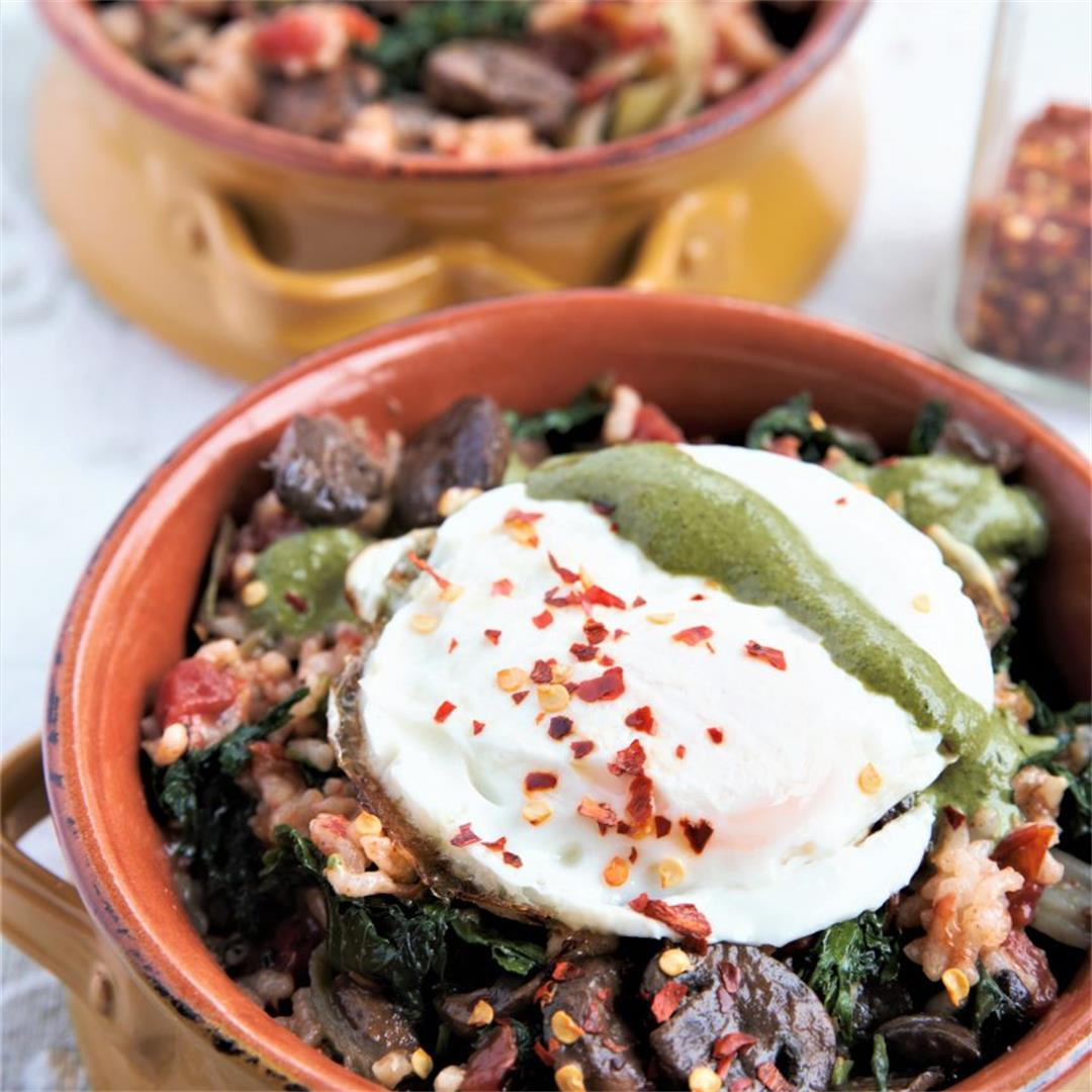 Instant Pot Kale Tomato Risotto