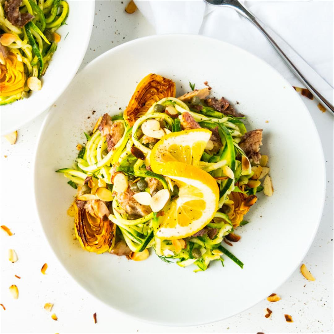 Mediterranean Summer Pasta with Zoodles