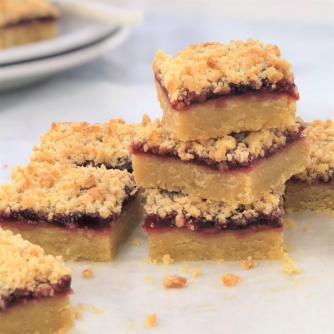 Raspberry Crumble Bars