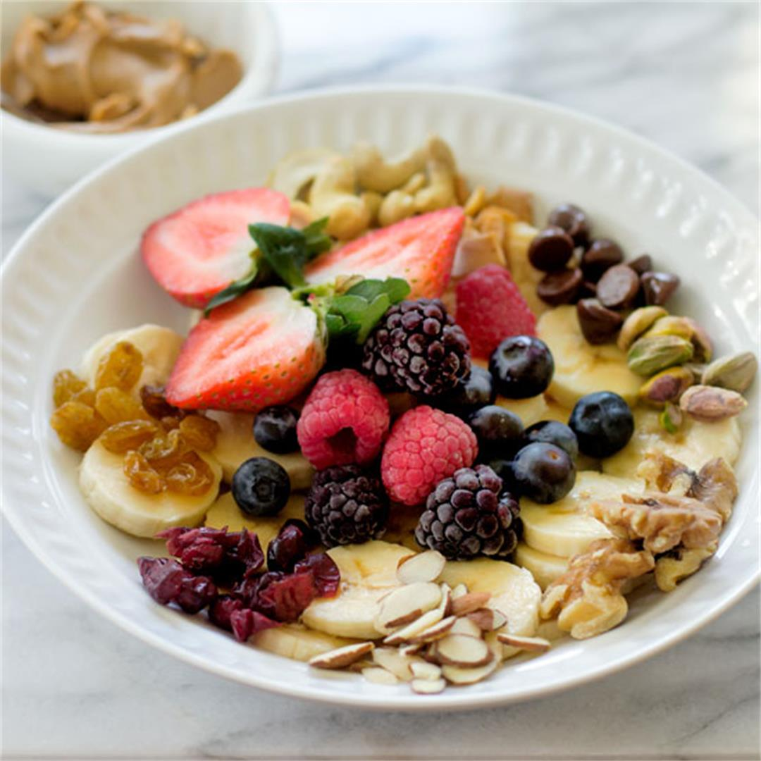 Fruit and Nuts Monkey Breakfast Bowl