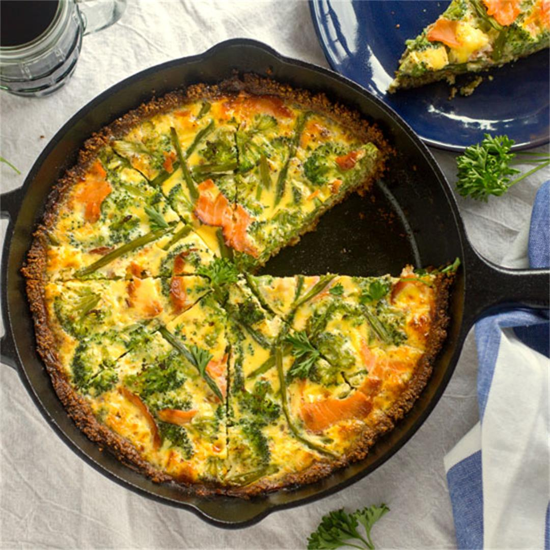 Smoked Salmon Quiche with Gluten Free Crust