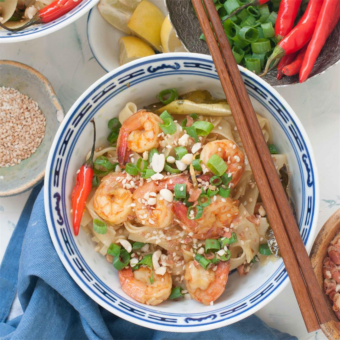 Thai Coconut Shrimp Noodles