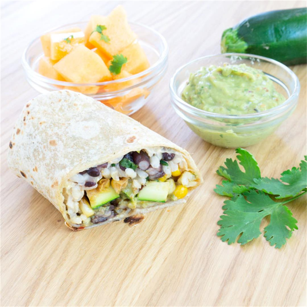 Zucchini Burritos with Special Sauce