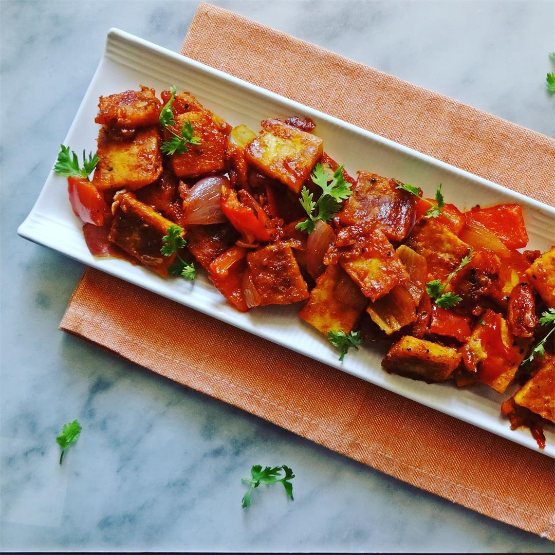 Paneer (Cottage Cheese) Capsicum Chili Recipe