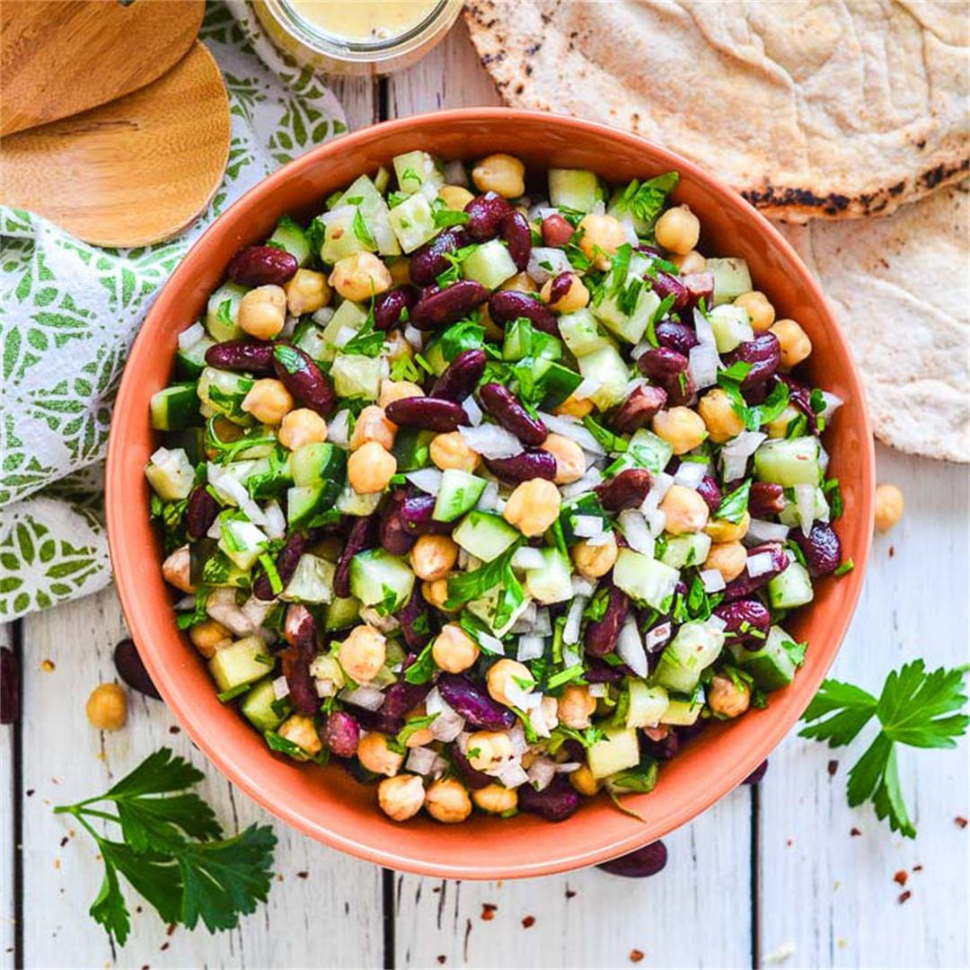 Kidney Bean Salad with Lemon & Parsley